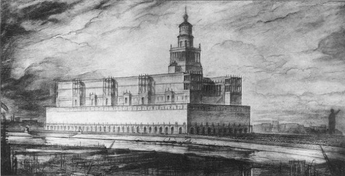 Проект Дворца Советов Ивана Жолтовского