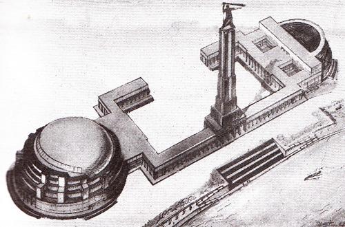 Проект Дворца Советов Бориса Иофана. Конкурсный проект (первый тур). 1931 г.