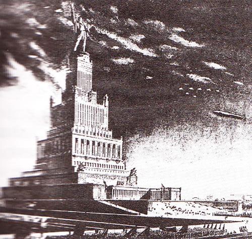 Проект Дворца Советов. Архитекторы Щуко и Гельфрейх. Октябрь 1933 г.