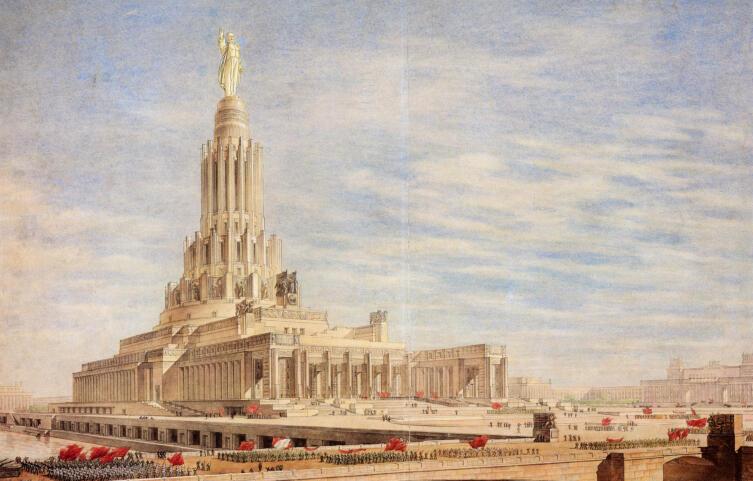 Окончательный проект Дворца Советов Иофана, Щуко, Гельфрейха
