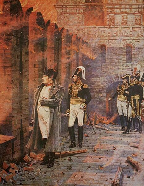В. П. Верещагин, «В Кремле - пожар!», 1890-е гг.