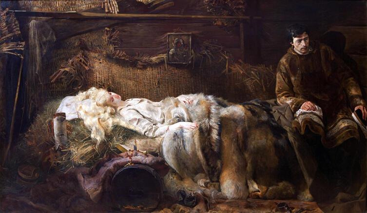 Яцек Мальчевский, «Смерть Елены», 1883 г.