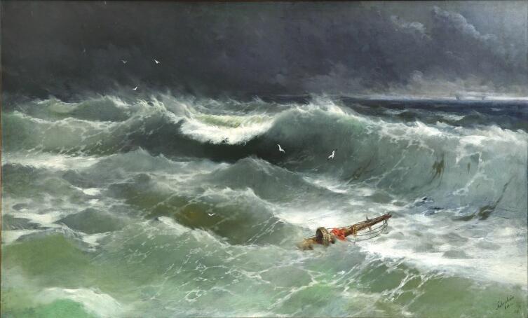 И. К. Айвазовский, «Буря на Азовском море в апреле 1886 года, когда погиб пароход