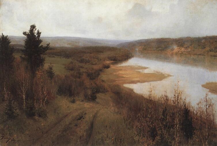 В. Д. Поленов, «Стынет. Осень на Оке близ Тарусы», 1893 г.