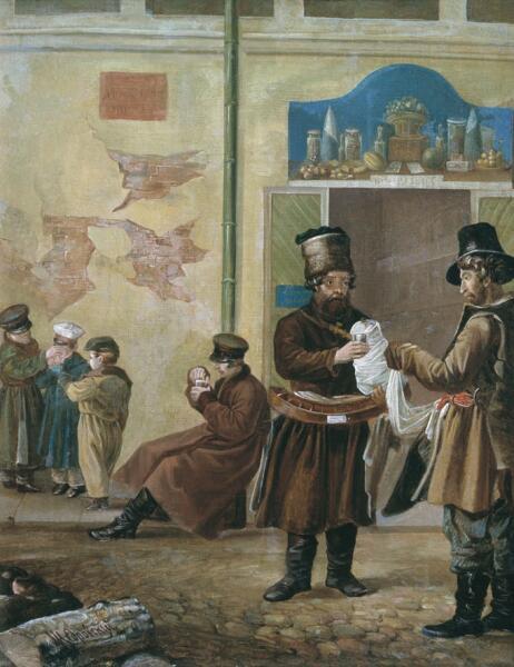 И. С. Щедровский, «Продавец сбитня», ок. 1840 г.