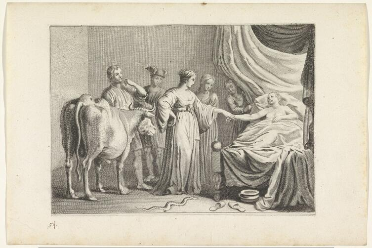 Криспин ван де Пассе Младший, «Исида приходит во сне к Телетузе», 1636 г.