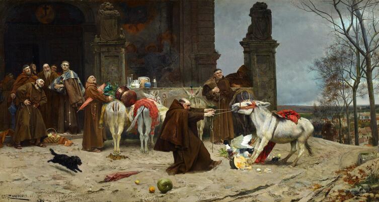 Эдуардо Замацоис и Забала, «Возвращение в монастырь», 1868 г.