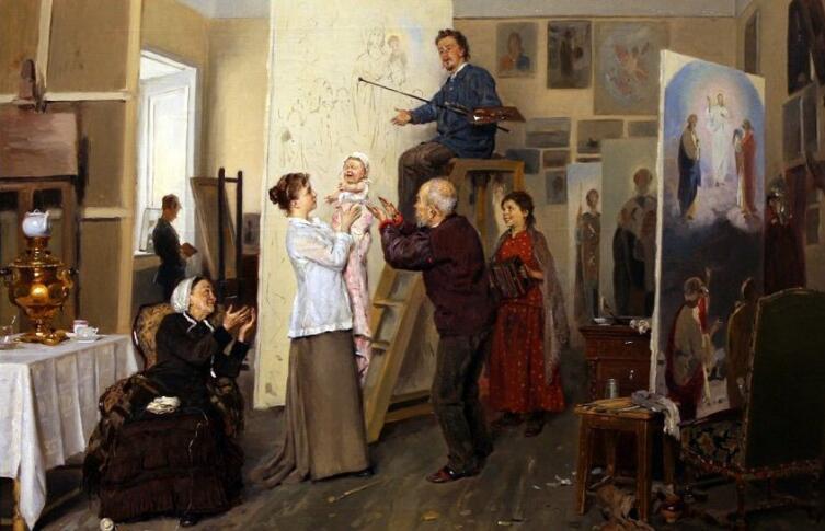 В. Е. Маковский, «Семья художника», 1893 г.