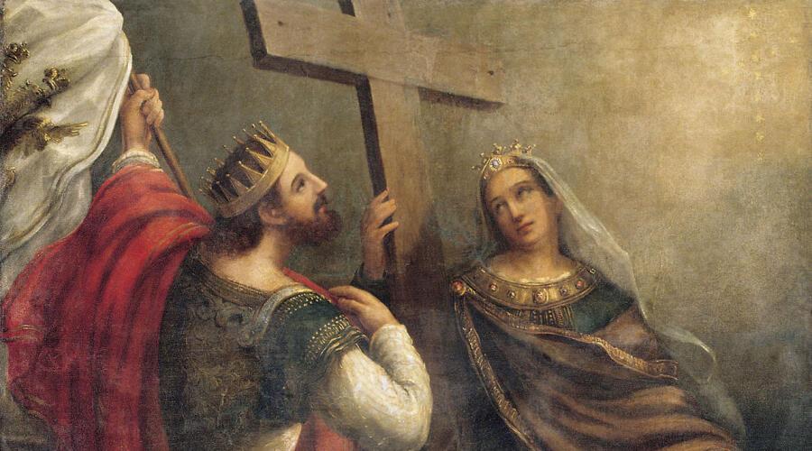 В. К. Сазонов, «Святые Константин и Елена вокруг Животворящего Креста Господня»