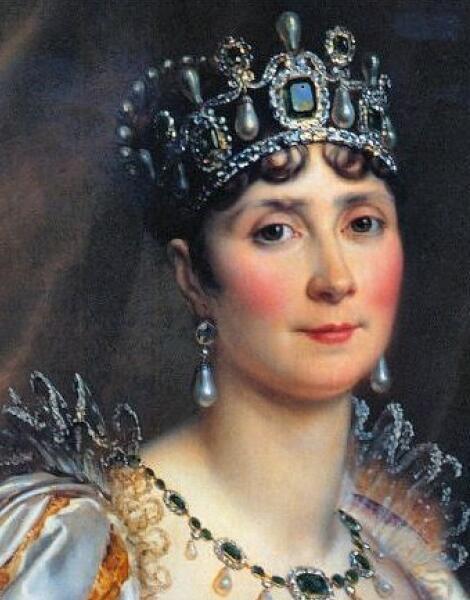 Императрица Жозефине с камнем «Пожар Трои»