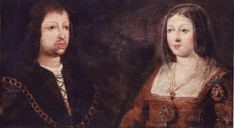 Изабелла и её муж Фердинанд после свадьбы