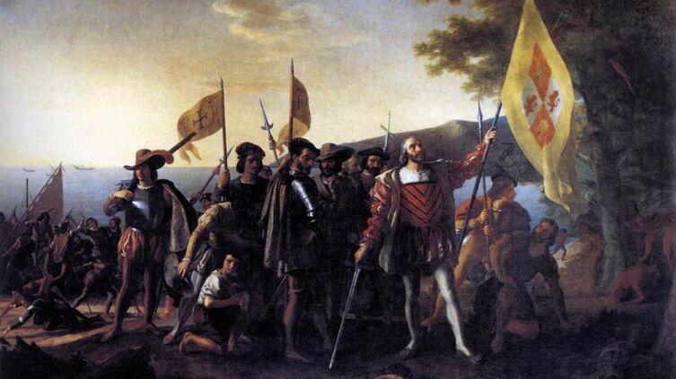 Джон Вандерлин, «Колумб высадка в Гуанахани в 1492 году»