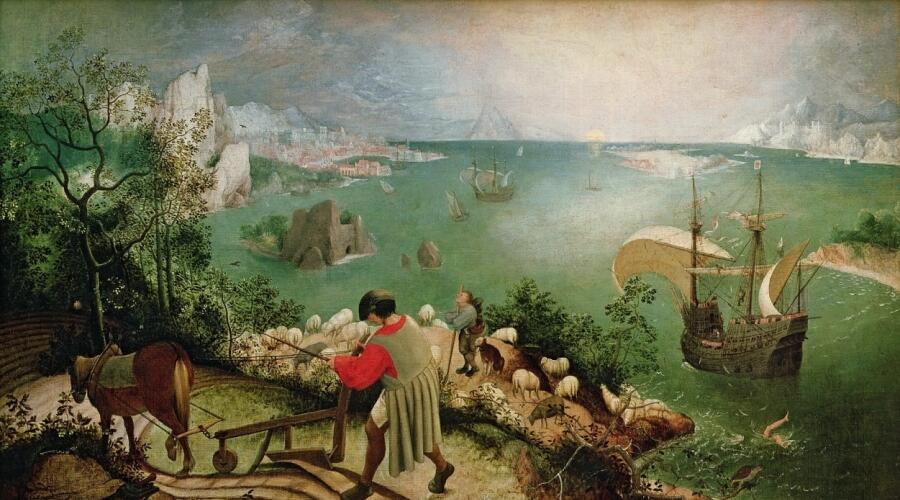 Питер Брейгель Старший, «Пейзаж с падением Икара», 1558 г.