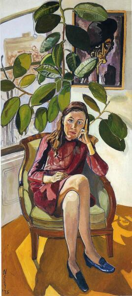 Алиса Нил, «Женщина под фикусом», 1975 г.
