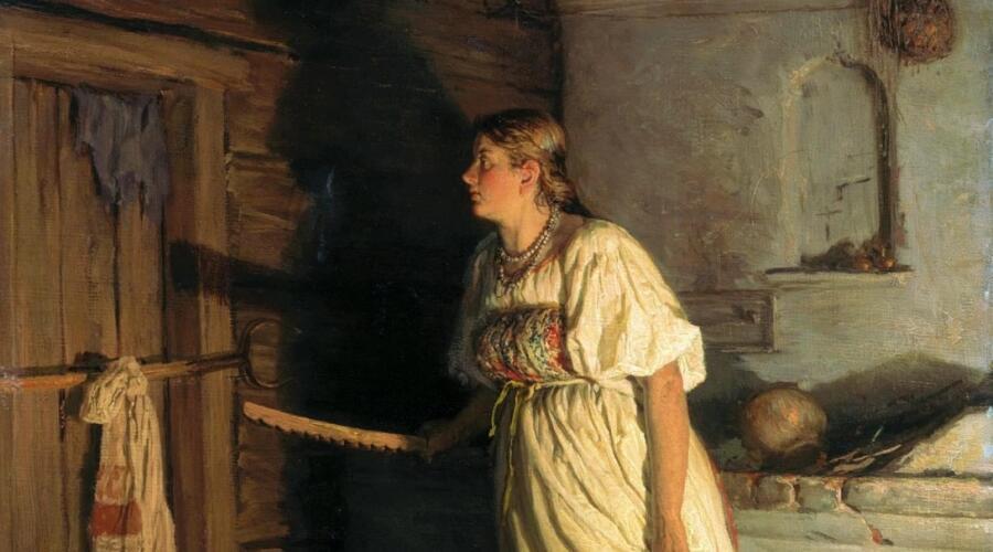 В. М. Максимов, «Кто там?» (фрагмент), 1879 г.