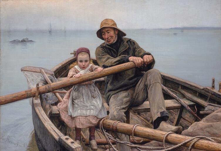 Эмиль Ренуф, «Рука помощи», 1881 г.