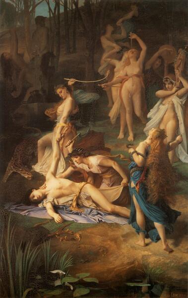 Эмиль Леви, «Смерть Орфея», 1866 г.