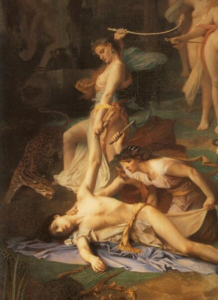Эмиль Леви, «Смерть Орфея»  фрагмент «Вакханки», 1866 г.