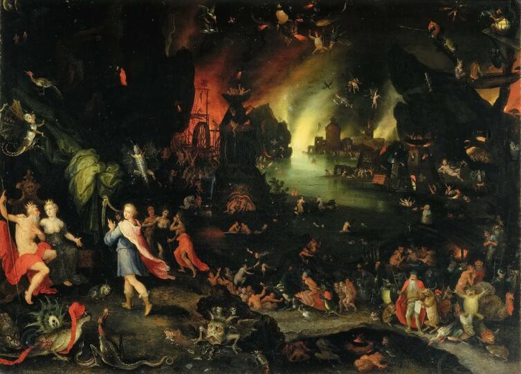 Ян Брейгель Старший, «Орфей в аду играет для Плутона и Прозерпины», 1594 г.