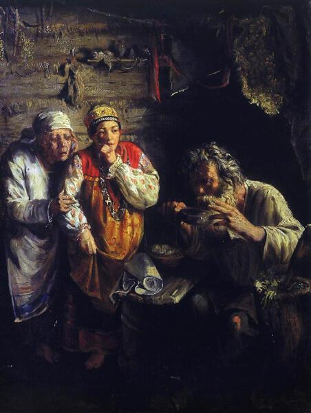 Г. Г. Мясоедов, «Знахарь», 1860 г.