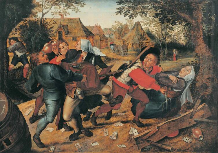 Питер Брейгель Младший, «Крестьянская драка», 1620 г.