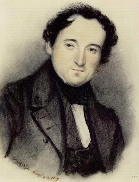 Ипполита Рехберг, «Портрет Фёдора Тютчева», 9 марта 1838 г.