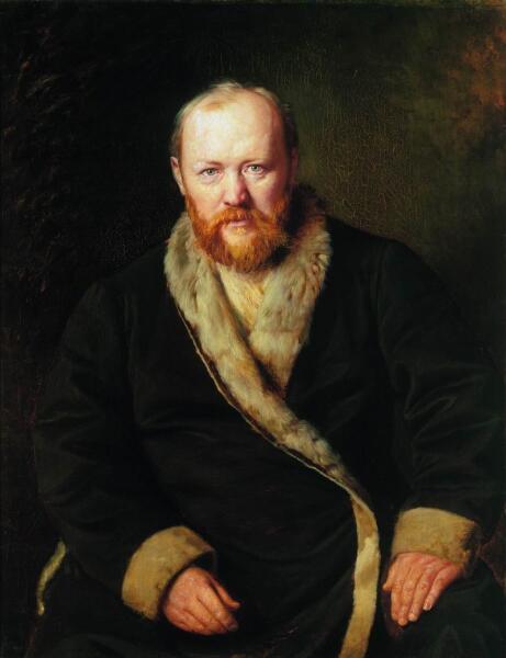 В. Г. Перов, «Портрет драматурга А.Н. Островского», 1871 г.