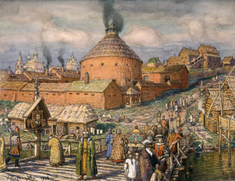 А. М. Васнецов, «Пушечный двор в XVI веке»