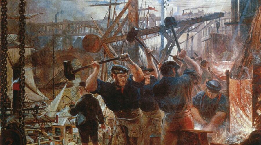 Уильям Белл Скотт, «Железо и уголь» (фрагмент), 1856—1860 гг.
