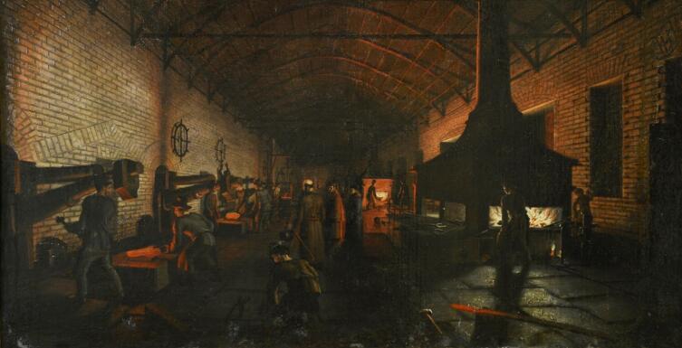 П. Ф. Худояров, «На старом уральском заводе», 1830-е гг.