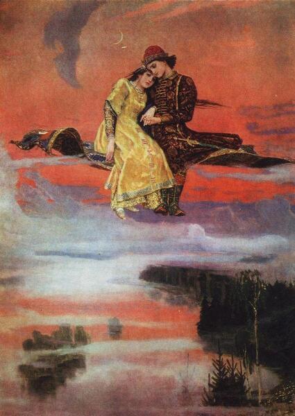 В. М. Васнецов, «Ковёр-самолет», 1926 г.