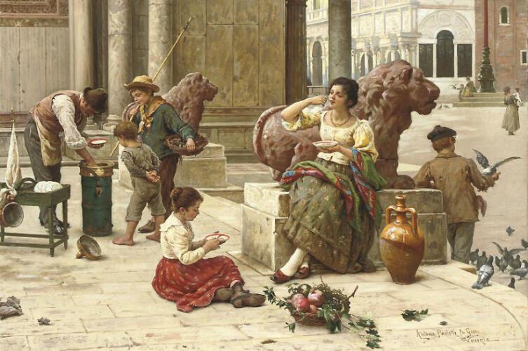 Антонио Паолетти, «Венецианский продавец мороженого»
