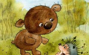 Как Мишутка впервые залез на дерево?