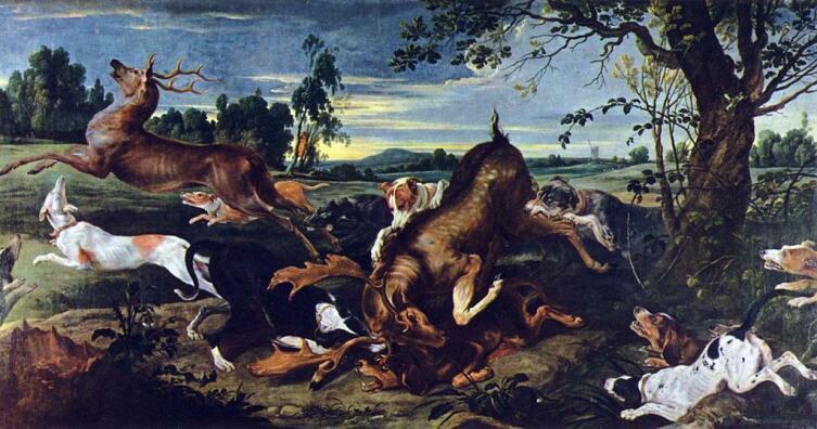 Франс Снейдерс, «Охота на оленя»