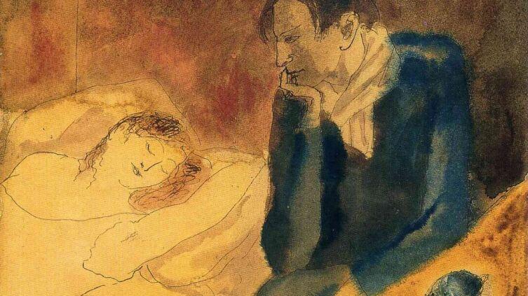 Пабло Пикассо, «Спящая женщина. Медитация» (фрагмент), 1904 г.