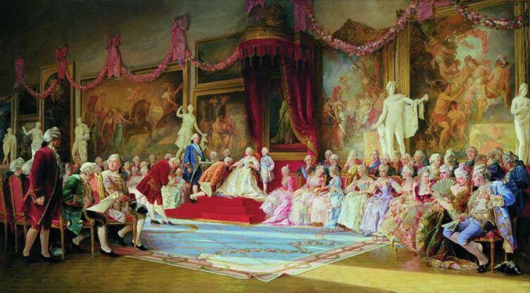 В. И. Якоби, «Инаугурация Императорский Академии художеств 7 июля 1765 года», 1889 г.