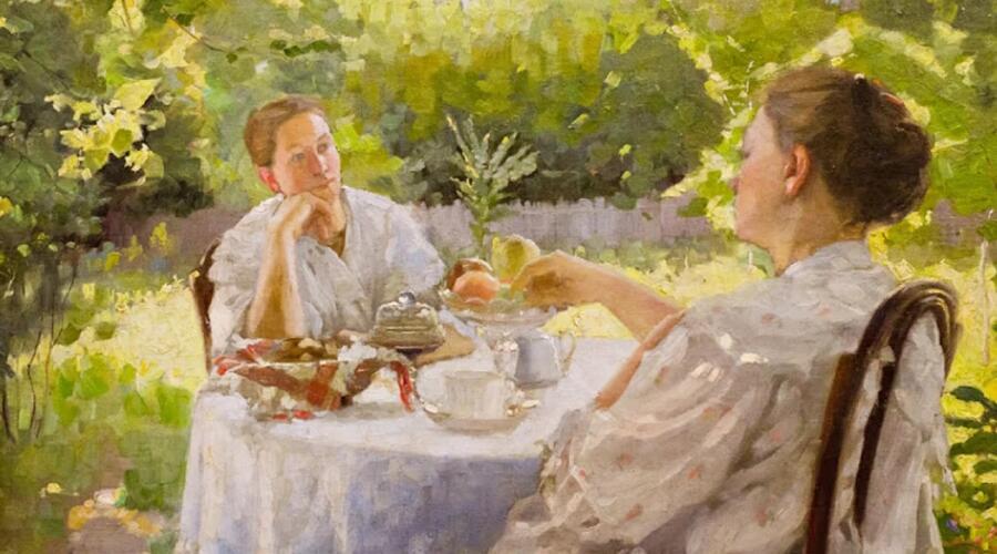 Л. В. Попов, «В саду»