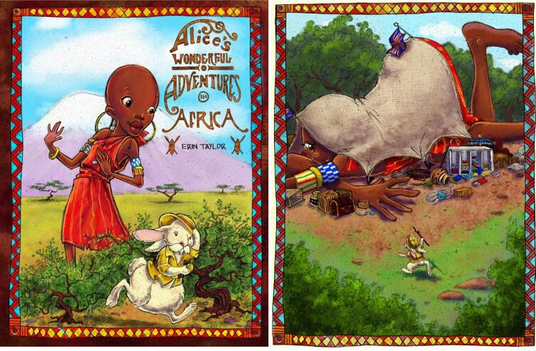 Иллюстрации Erin Taylor из издания «Alice's Wonderful Adventures in Africa» (2009)