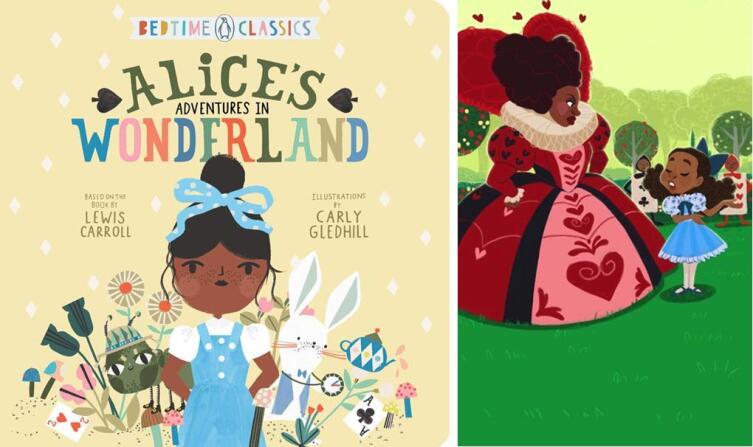 Слева — иллюстрация Carly Gledhill. Справа — иллюстрация James Claridades