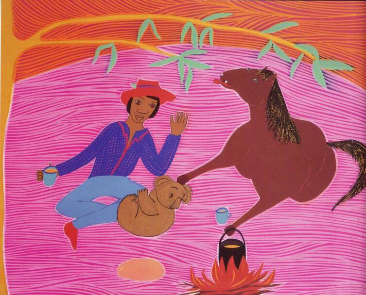 Иллюстрация Donna Leslie из издания «Alitji in Dreamland» (1992)