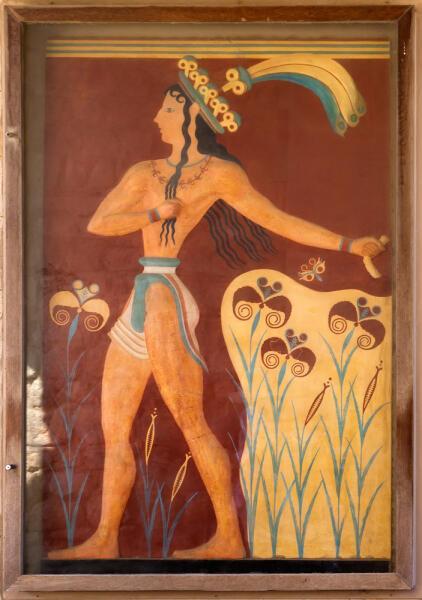 Фреска из Кносского дворца, Крит