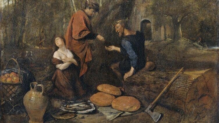 Ян Стен, «Эрисихтон продает в рабство свою дочь Мнестру» (фрагмент), 1660 г.