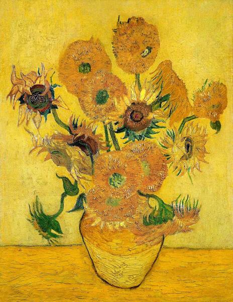 Винсент Ван Гог, «Натюрморт: пятнадцать подсолнухов в вазе III», 1889 г.