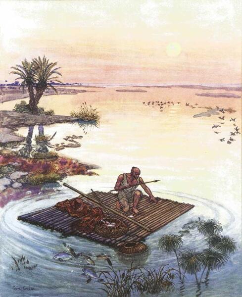 Иллюстрация к сказке «История Джудара-Рыбака или волшебный мешок»