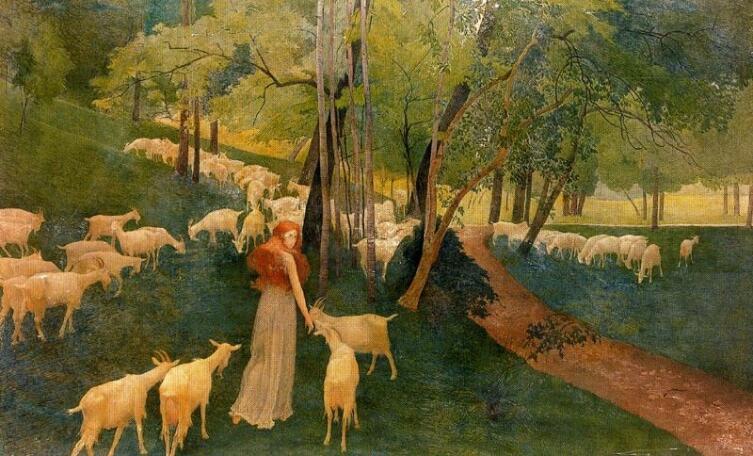 Эрнест Билер, «Козы в лесу»