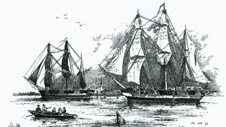 Экспедиционные суда HMS Erebus и HMS Terror