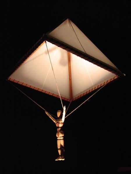 Современная модель парашюта Леонардо да Винчи