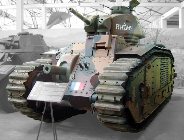 B1 bis в танковом музее в Сюморе