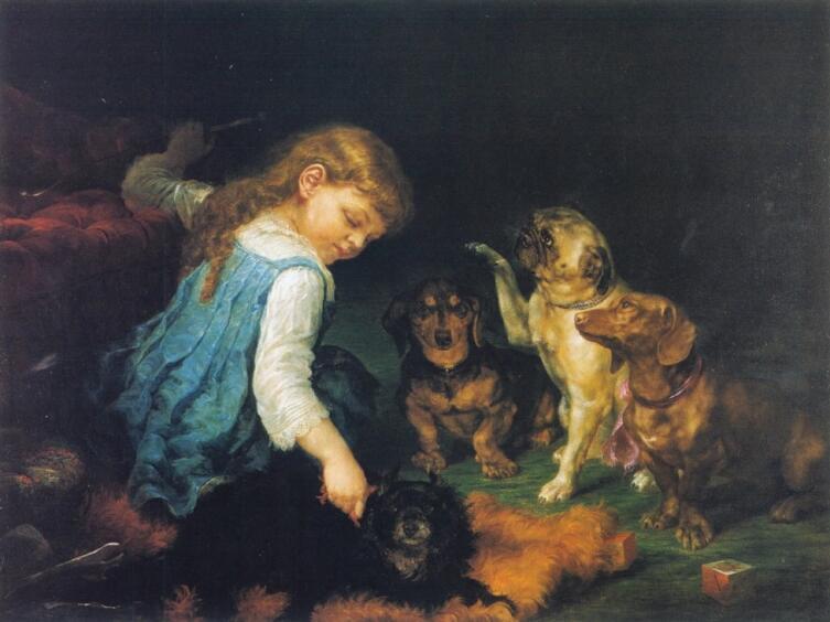 Лилли Мартин Спенсер, «Дрессировка собак»
