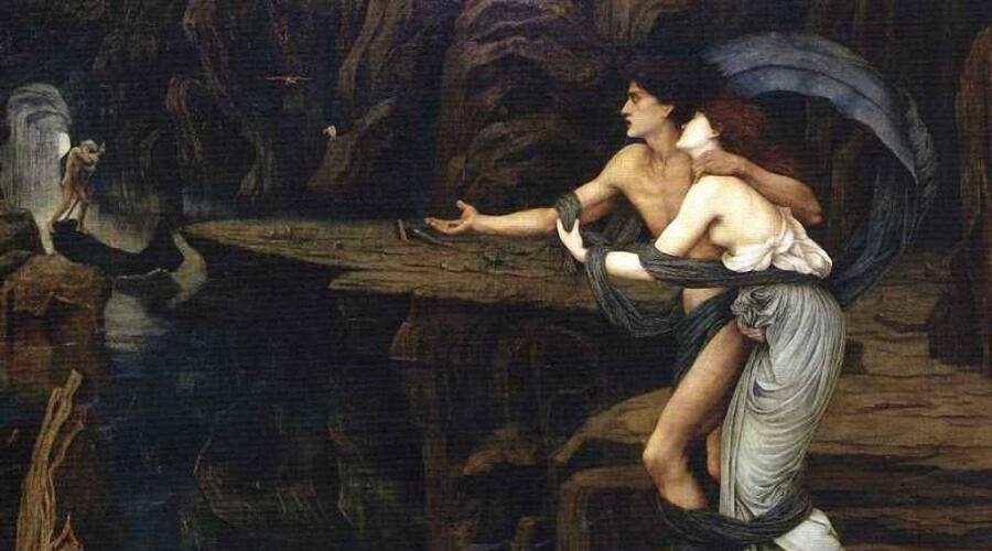 Джон Роддэм Спенсер-Стенхоуп, «Орфей и Эвридика на берегу Стикса», 1878 г.
